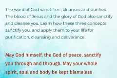 The Word Of God Sanctfies