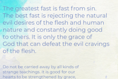 Fast From Sin