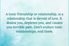 Avoid Toxic Relationships