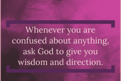 Ask For Wisdom And Direction